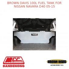 BROWN DAVIS 100L FUEL TANK FOR NISSAN NAVARA D40 05-15 - TTF2