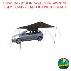 HOWLING MOON SWALLOW AWNING 1.4M 3.6Mx2.1M FOOTPRINT BLACK