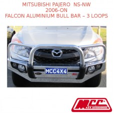 MCC FALCON ALUMINIUM BULL BAR – 3 LOOPS SUIT MITSUBISHI PAJERO NS-NW