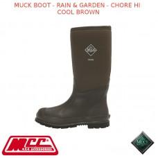 MUCK BOOT - RAIN & GARDEN MEN'S BOOT - CHORE HI COOL BROWN