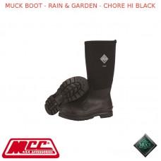 MUCK BOOT - RAIN & GARDEN MEN'S BOOT - CHORE HI BLACK