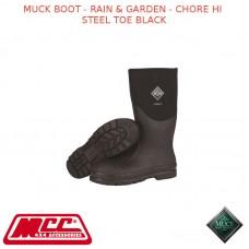 MUCK BOOT - RAIN & GARDEN MEN'S BOOT - CHORE HI STEEL TOE BLACK