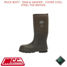 MUCK BOOT - RAIN & GARDEN MEN'S BOOT - CHORE COOL STEEL TOE BROWN