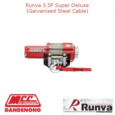 RUNVA 3500lb 3.2HP RED GALVANISED STEEL CABLE