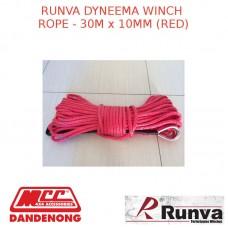 RUNVA DYNEEMA WINCH ROPE - 30M x 10MM RED