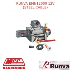 RUNVA EWN12000 12V WITH GALVANISED STEEL CABLE