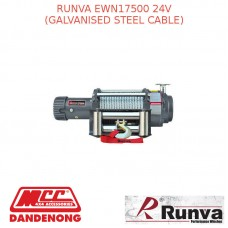 RUNVA EWN17500 24V WITH GALVANISED STEEL CABLE