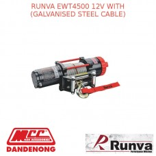 RUNVA EWT4500 12V WITH STEEL CABLE