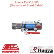 RUNVA 12000lb 7.2HP OR 7.1HP GREY GALVANISED STEEL CABLE
