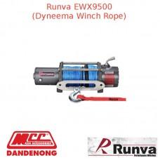 RUNVA 9500lb 6.1HP GREY WINCH DYNAMEE ROPE