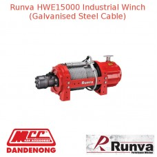 RUNVA 15000lb RED GALVANISED STEEL CABLE