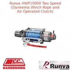 RUNVA 10000lb GREY WINCH DYNEEMA ROPE AND AIR OPERATED CLUTCH