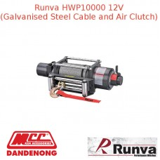 RUNVA HWP10000 12V WITH STEEL CABLE AND AIR CLUTCH