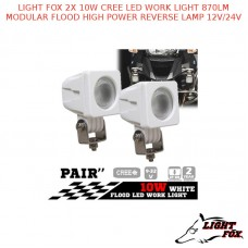 LIGHT FOX 2X 10W CREE LED WORK LIGHT 870LM MODULAR FLOOD LAMP