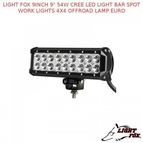 Fox 9inch 9 54w cree led light bar spot work lights 4x4 offroad light fox 9inch 9 54w cree led light bar spot work lights 4x4 offroad mozeypictures Gallery
