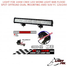 LIGHT FOX 144W CREE LED WORK LIGHT BAR FLOOD SPOT OFFROAD