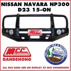 MCC BULL BAR SUIT NAVARA NP300 15 - ON D23 022-03 ADR / ARB TJM / BULLBAR