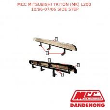 MCC BULLBAR SIDE STEP SUIT MITSUBISHI TRITON (MK) L200 (10/1996-07/2006) - BLACK