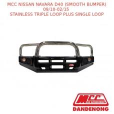 MCC FALCON BAR SS 3 LOOP + 1 LOOP - NAVARA D40 (SMOOTH BUMPER) (09/10-02/15)-SBL