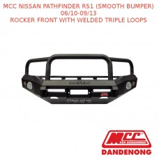 MCC BULLBAR ROCKER FRONT WITH WELDED TRIPLE LOOPS SUIT NISSAN PATHFINDER R51 (SMOOTH BUMPER) (06/2010-09/2013)