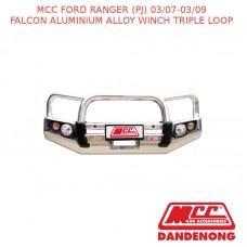 MCC FALCON BAR ALUMINIUM ALLOY WINCH TRIPLE LOOP SUIT FORD RANGER (PJ) (03/2007-03/2009)