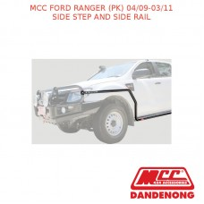 MCC BULLBAR SIDE STEP AND SIDE RAIL - FORD RANGER (PK) (04/09-03/11)-SANDBLACK