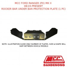 MCC ROCKER BAR UNDER BAR PROTECTION PLATE (1 PC) SUIT FORD RANGER (PX) MK II (08/2015-PRESENT)