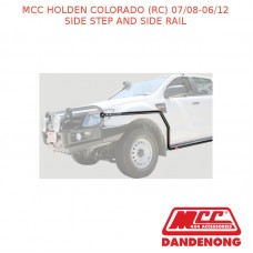 MCC BULLBAR SIDE STEP & SIDE RAIL-HOLDEN COLORADO (RC) (07/08-06/12) -SAND BLACK