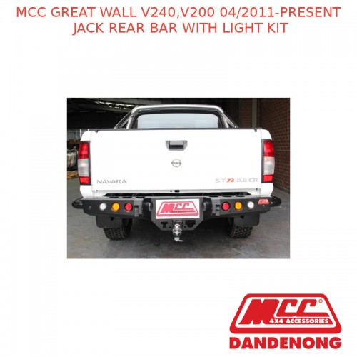 MCC JACK REAR BAR WITH LIGHT KIT SUIT GREAT WALL V240,V200 (04/11-PRESENT) eBay