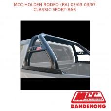 MCC CLASSIC SPORT BAR BLACK TUBING SUIT HOLDEN RODEO (RA) (03/03-03/07)