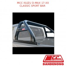 MCC CLASSIC SPORT BAR BLACK TUBING SUIT ISUZU D-MAX (2017-20XX)