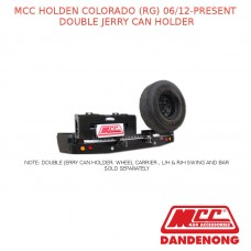 MCC BULLBAR DOUBLE JERRY CAN HOLDER SUIT HOLDEN COLORADO (RG) (06/2012-PRESENT)