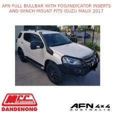 AFN FULL BULLBAR WITH FOG/INDICATOR INSERTS AND WINCH MOUNT FITS ISUZU MAUX 2017