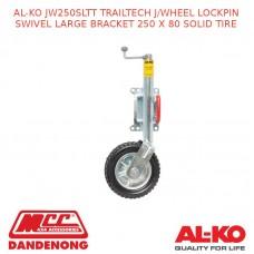 AL-KO JW250SLTT TRAILTECH J/WHEEL LOCKPIN SWIVEL LB 250 X 80 SOLID TIRE