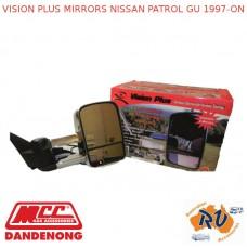 VISION PLUS MIRRORS FITS NISSAN PATROL GU 1997-ON