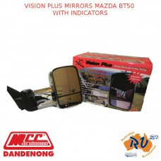 VISION PLUS MIRRORS FITS MAZDA BT50 WITH INDICATORS
