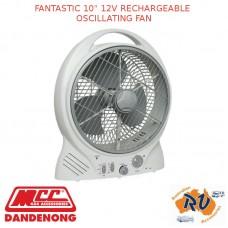 "FANTASTIC 10"" 12V RECHARGEABLE OSCILLATING FAN"