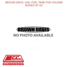 BROWN DAVIS 100L FUEL TANK FOR HOLDEN RODEO 97-03 - HR2R6
