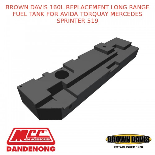 BROWN DAVIS 160L FUEL TANK FOR MERCEDES-BENZ SPRINTER 07-PRESENT