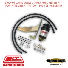 BROWN DAVIS 2.4L DIESEL FUEL FILTER KIT FOR MITSUBISHI TRITON - MQ (15-PRESENT)