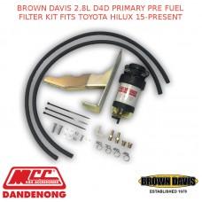 BROWN DAVIS 2.8L D4D PRIMARY PRE FUEL FILTER KIT FITS TOYOTA HILUX 15-PRESENT