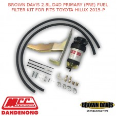 BROWN DAVIS 2.8L D4D PRIMARY (PRE) FUEL FILTER KIT FOR FITS TOYOTA HILUX 2015-P
