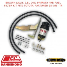 BROWN DAVIS 2.8L D4D PRIMARY PRE FUEL FILTER KIT FITS TOYOTA FORTUNER 15-ON - TF