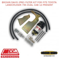 BROWN DAVIS (PRE) FILTER KIT FOR FITS TOYOTA LANDCRUISER 79S DUAL CAB 12-PRESENT