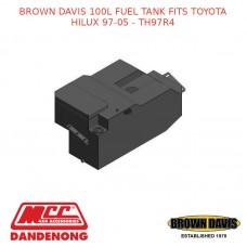 BROWN DAVIS 100L FUEL TANK FITS TOYOTA HILUX 97-05 - TH97R4