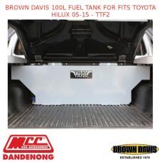BROWN DAVIS 100L FUEL TANK FOR FITS TOYOTA HILUX 05-15 - TTF2
