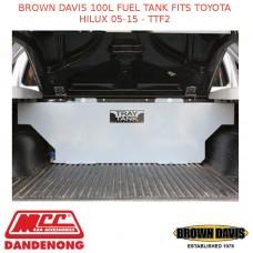BROWN DAVIS 100L FUEL TANK FITS TOYOTA HILUX 05-15 - TTF2
