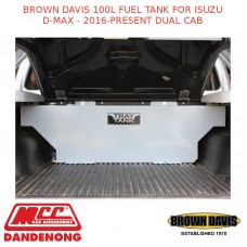 BROWN DAVIS 100L FUEL TANK FOR ISUZU D-MAX - 2016-PRESENT DUAL CAB