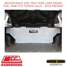 BROWN DAVIS 100L TRAY TANK LONG RANGE FUEL TANK FITS TOYOTA HILUX - 2015-PRESENT