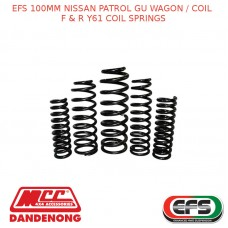 EFS 100MM LIFT KIT FOR NISSAN PATROL GU WAGON / COIL F & R Y61